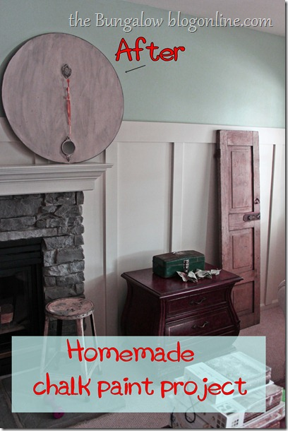 A little redo with homemade chalk paint |