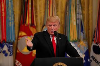 Tổng thống Mỹ Donald Trump tại Nhà Trắng ngày 12/09/2018.