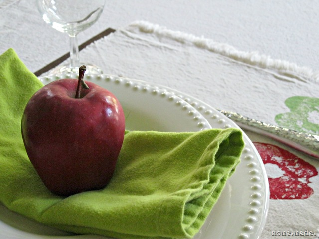 home.made. Apple Place Setting Close