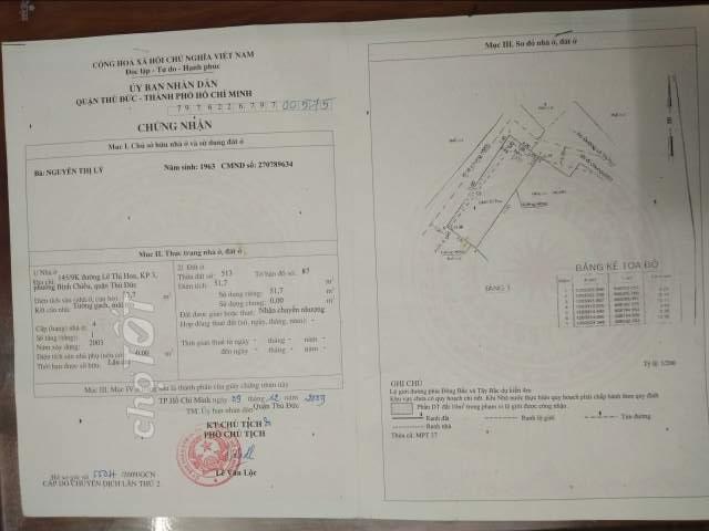 Nhà bán 2 mặt tiền hẻm đường Lê Thị Hoa, phường Bình chiểu, Q Thủ Đức.4