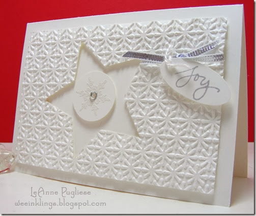 LeAnne Pugliese WeeInklings Paper Players 176 White on White Christmas Stampin