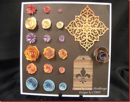 3d flower cricut display board khershberger
