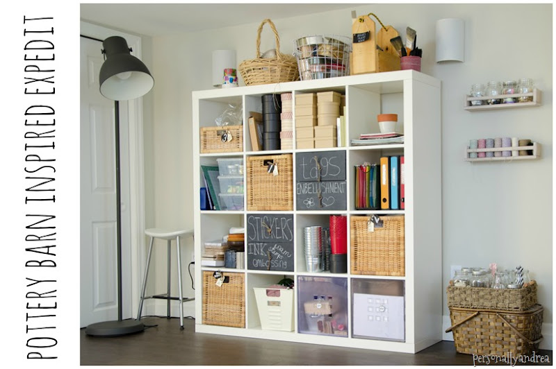 Pottery Barn Inspired EXPEDIT | Craft Storage | personallyandrea.com