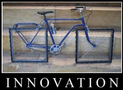 innovation: bike with square wheels