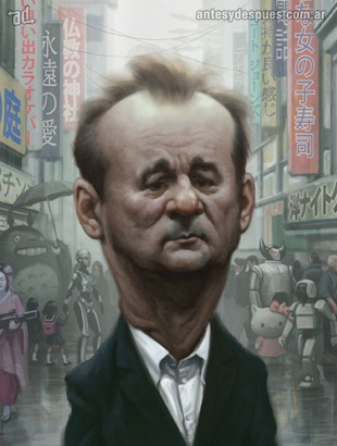 La caricatura de Bill Murray