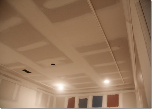 basement remodel ceiling in theater room