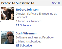 Facebook recommended subscriptions