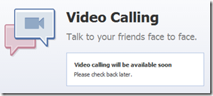 facebook video calling not working