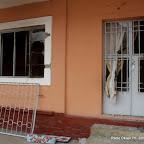 Siège de l'UDPS incendié le 6/9/2011 à Kinshasa. Radio Okapi/ Ph. John Bompengo