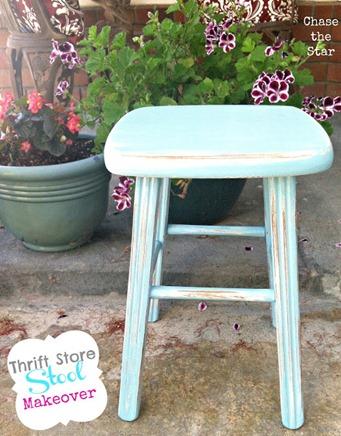 thrift stool makeover