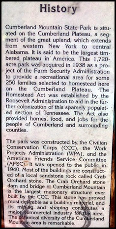 03c3 - Cumberland Mountain SP, Old History Article