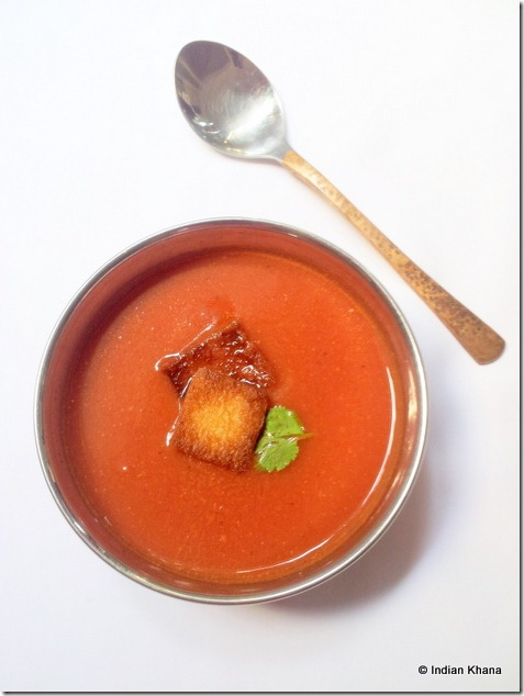 Indian Tomato Soup  takali soup recipe