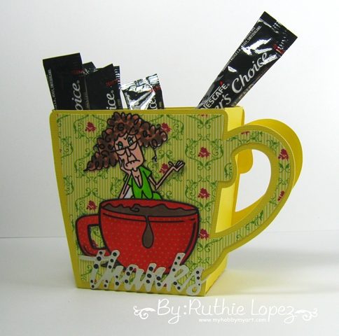 Bugaboo digital stamps - Stella peeker - magical substance - Cup 3D - Ruthie Lopez