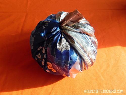 easy no sew fabric pumpkin