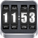 3D Rolling Clock BLACK icon