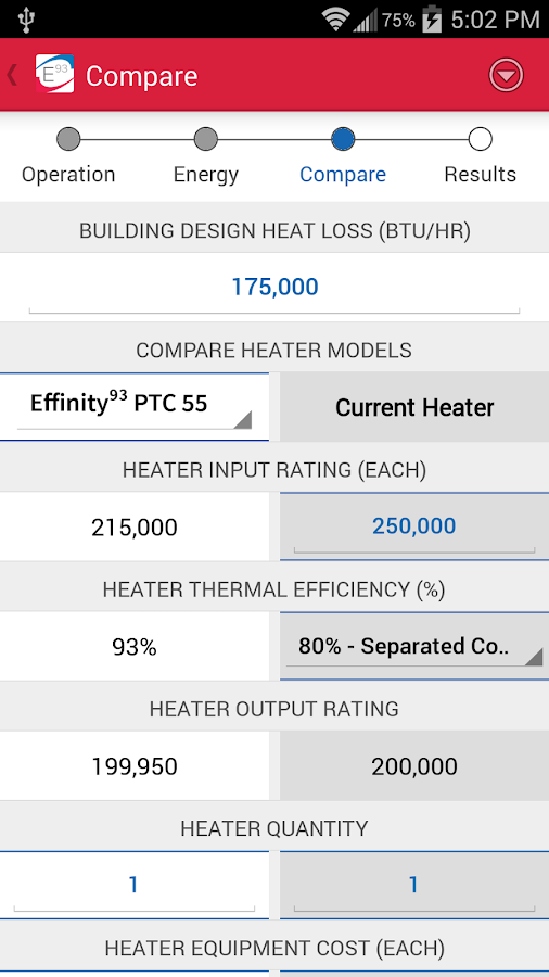 Effinity93 Payback Calculator- screenshot