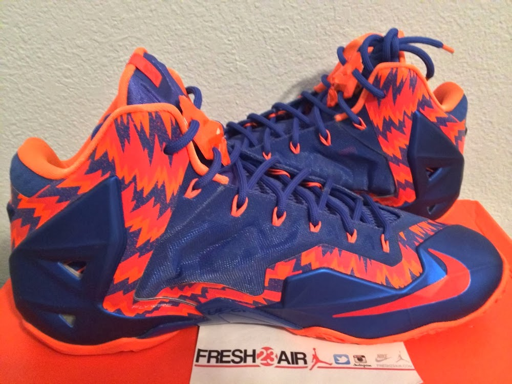 official photos e295b 09158 ... Closer Look at Zigzagged Nike LeBron XI Florida Gators Away PE ...