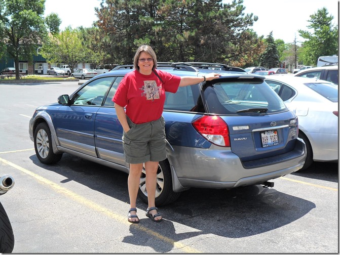 Lynne with Subaru