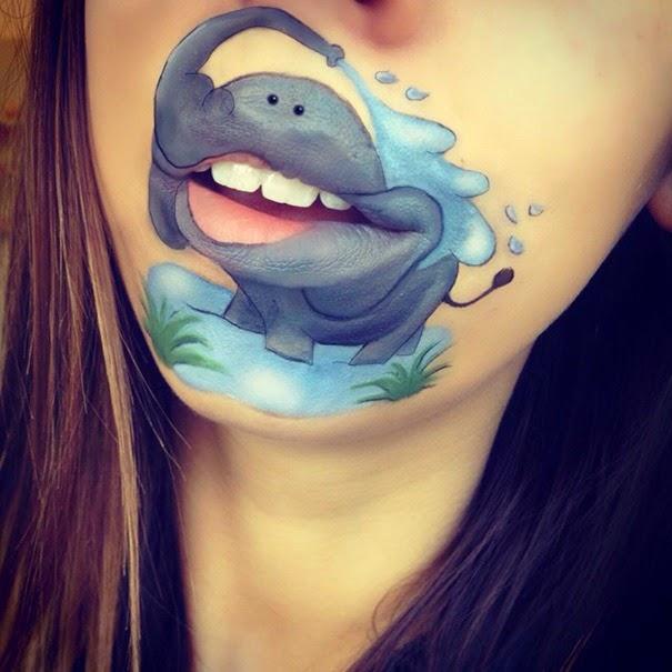 Makeup Artist Laura Jenkinson S Creative Lip Art Amusing Planet