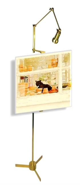 Gigi Thibodeau, Original Photograph, Scout Through The Porch Window, Waterlogue, Arredoluce Easel Floor Lamp from 1st Dibs