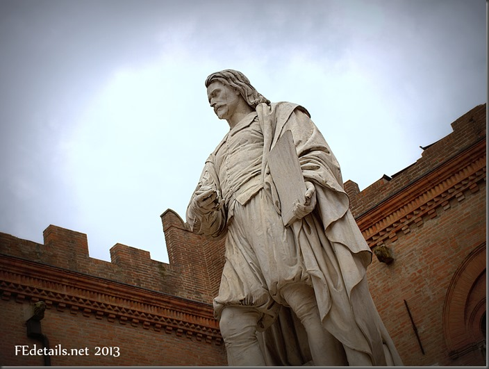 La statua del Guercino a Cento - The statue of Guercino, Cento, Ferrara, Italy, Photo1