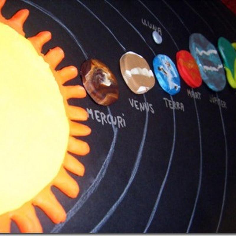 manualidades sistema solar en plastilina