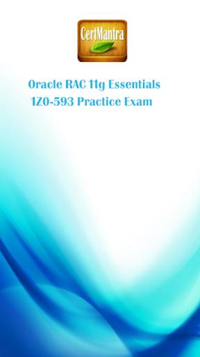 Oracle RAC 11g - 1Z0-593 Prep