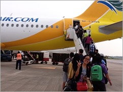 Our Cebu Pacific Flight to SG in July 2012