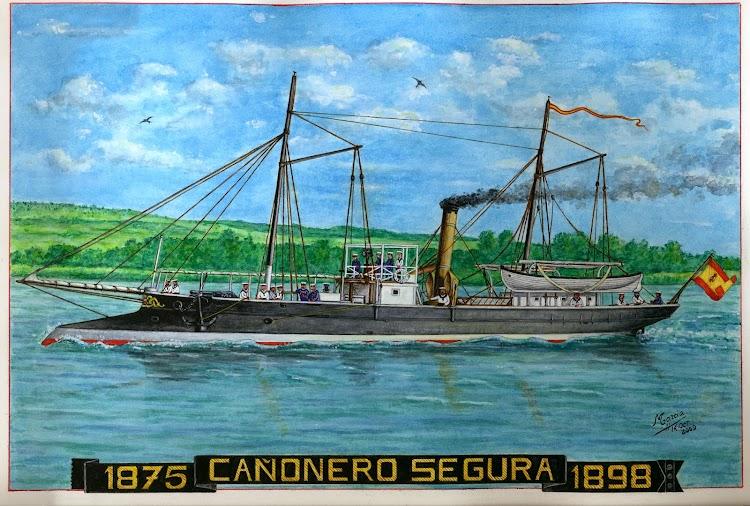 Cañonero SEGURA. Cuadro de Manuel Garcia Gracia. Nuestro agradecimiento.jpg
