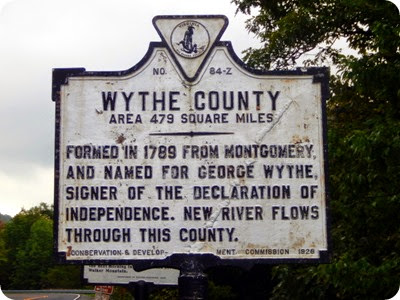 Wytheville sign