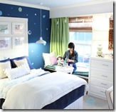 Navy blue girl teen room- Sam4