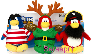 Club Penguin Plush 3-Pack Shipmate, Elf and Rockhopper :)