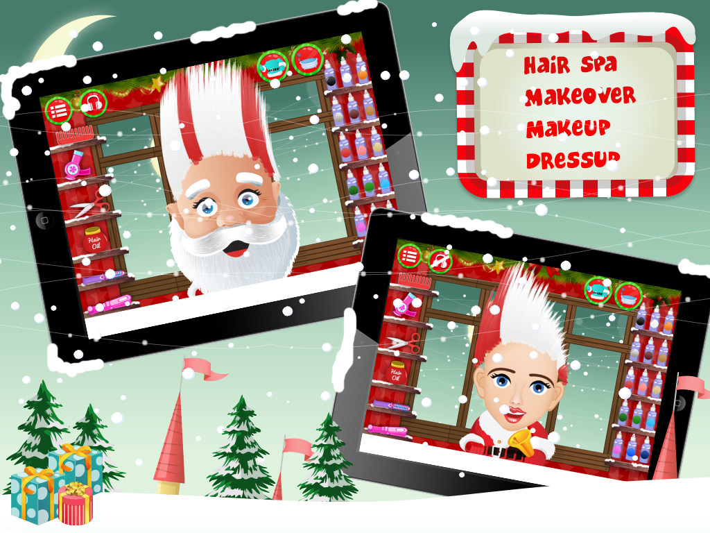 Santa hair saloon lite android apps on google play