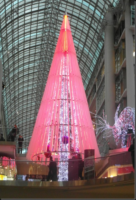 Xmas lights at Eaton Centre