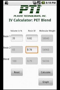 PET Blend Calculator- screenshot thumbnail