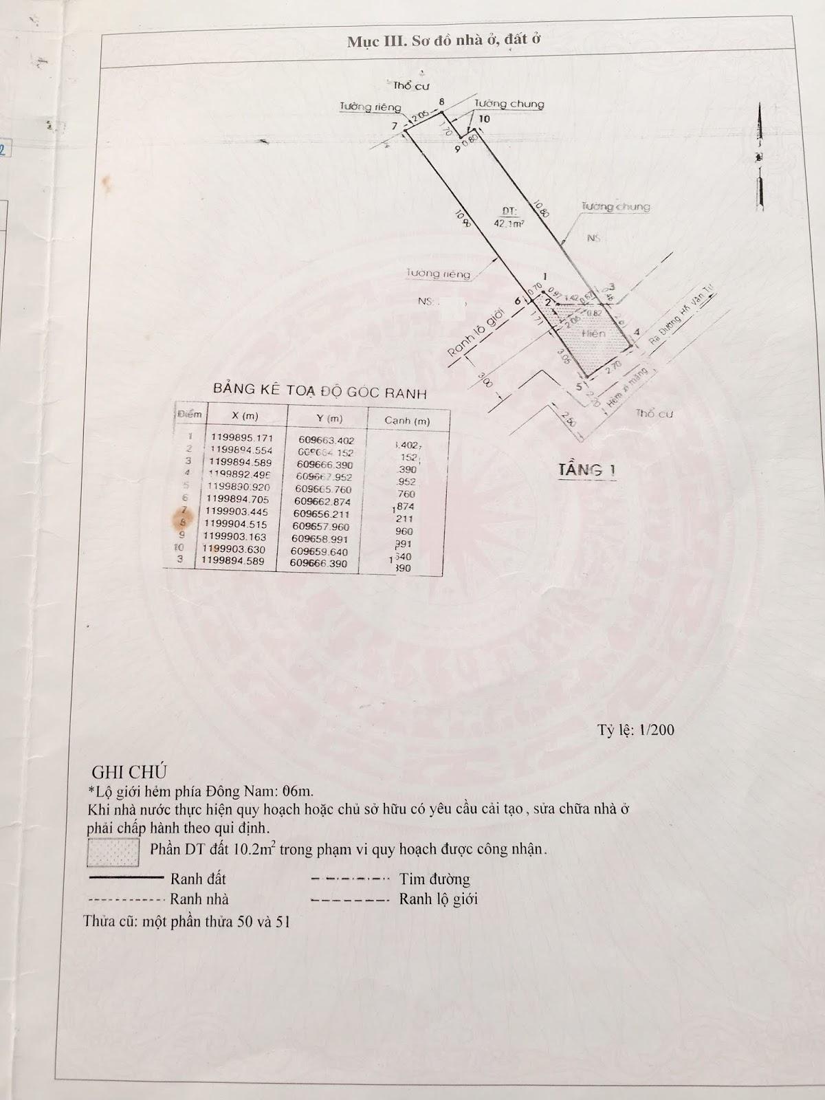 Bán nhà cấp 4 hẻm Hồ Văn Tư ngay chợ Thủ Đức, diện tích 42,1 mét vuông, giá 2,2 tỷ TL nhẹ 4