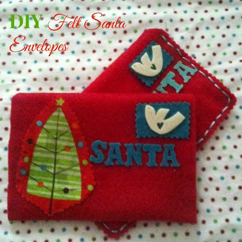 DIY felt santa envelopes