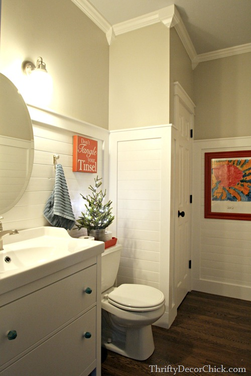 plank walls bathroom