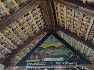 Peinture dans le Pont de la Chapelle à Lucerne