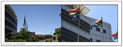 Flags in Sandton 25 December