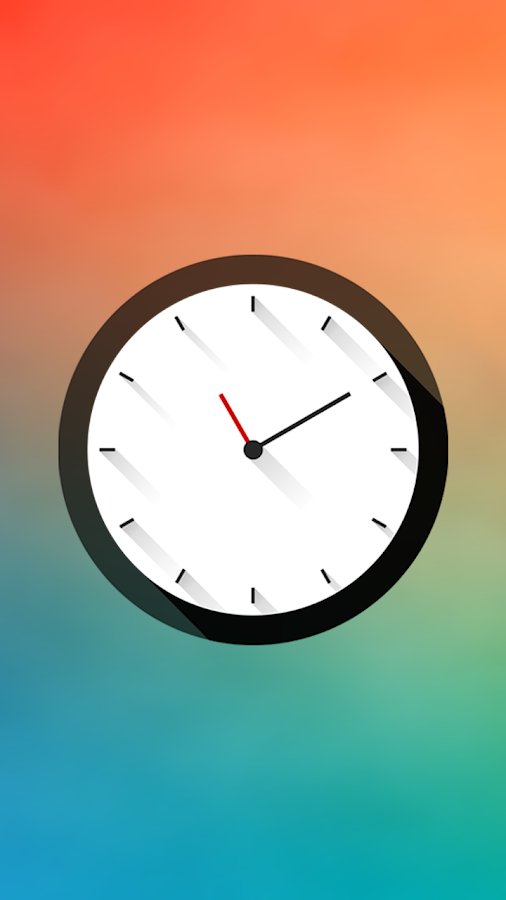 Long Shadows Clock - UCCW Skin- screenshot
