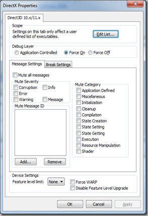dxcpl windows 7 32 bit