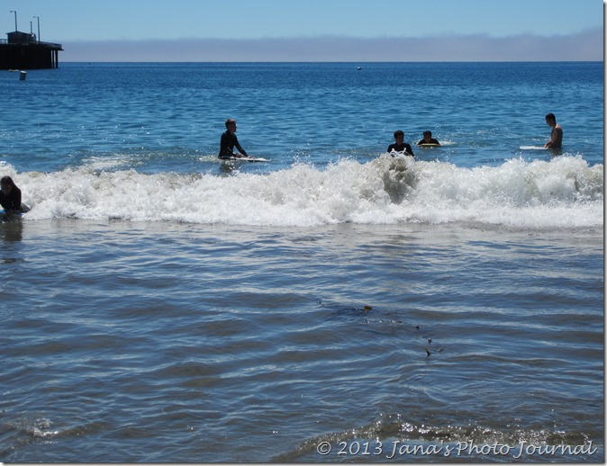 Boogie Boarding at Avila Beach