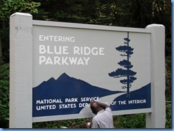 0506 North Carolina, Blue Ridge Parkway sign