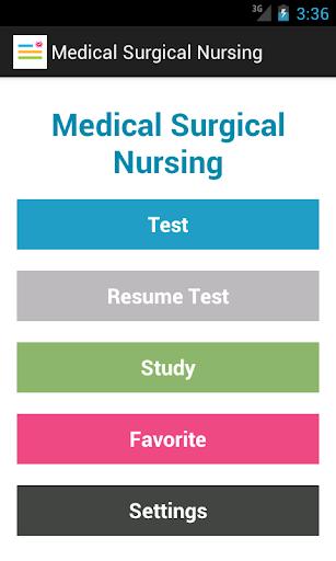 Medical Surgical Nurse Test