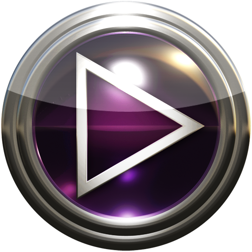 Poweramp skin purple glass Apps for Android