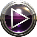 Poweramp skin purple glass icon