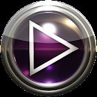 Poweramp skin purple glass icon