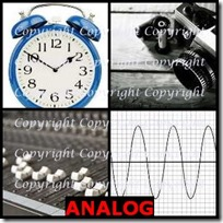 ANALOG- 4 Pics 1 Word Answers 3 Letters
