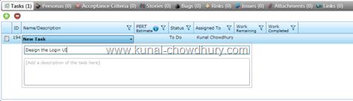 8. New Task Screen